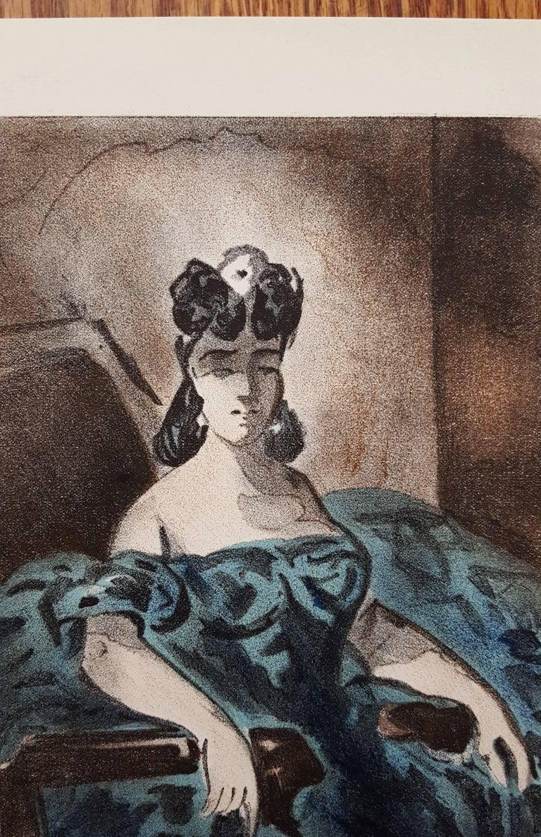 An original lithograph on wove paper after Dutch artist Constantin Guys (1802-1892) titled
