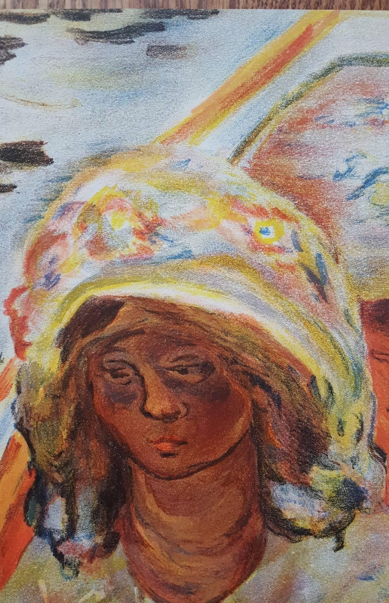Jeaune Fille dans un Barque - Brown Figurative Print by (after) Pierre Bonnard