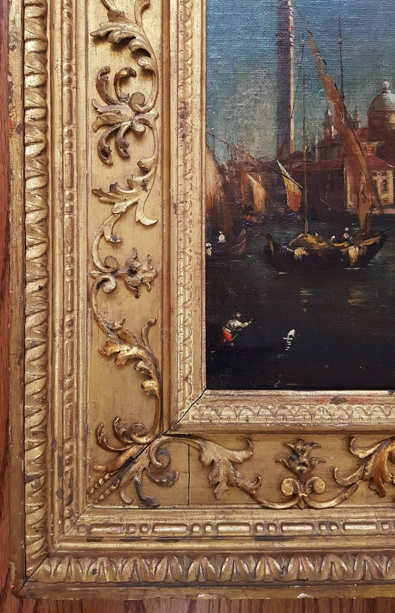 San Giorgio Maggiore, Venice - Old Masters Painting by (In the manner of) Franceso Lazzaro Guardi