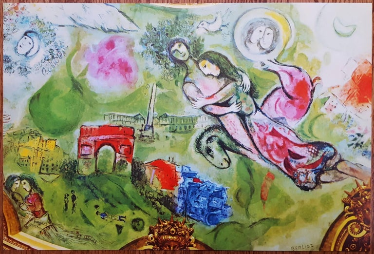 A group of 8 offset and original lithographs on smooth wove paper after Russian-French artist Marc Chagall (1887-1985) with various titles ranging in years from 1950-1980. Included in the group are
