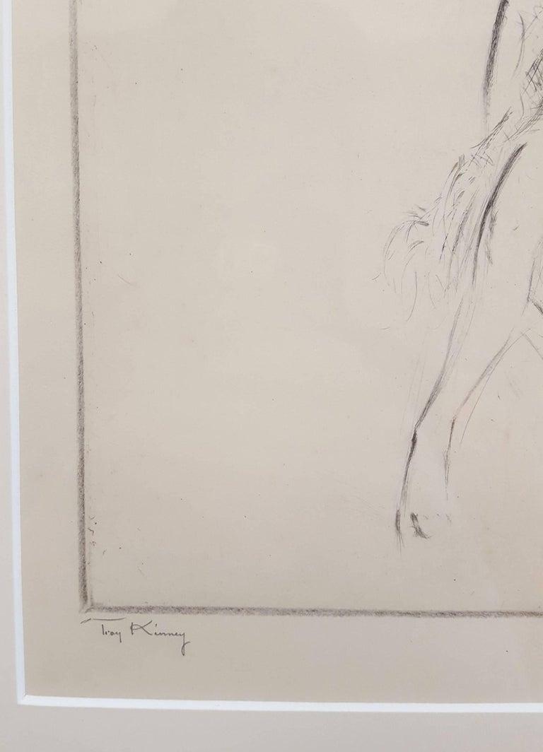 Sophie Planz in Cleopatre - Beige Figurative Print by Troy Kinney