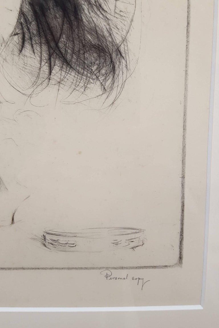 An original signed drypoint etching on cream Japan wove paper by American artist Troy Kinney (1871-1938) titled