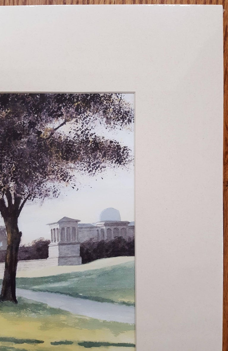 The Observatory, Edinburgh - Gray Landscape Art by Gillie Cawthorne