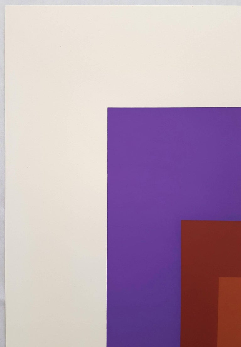 Palatial - Purple Abstract Print by Josef Albers