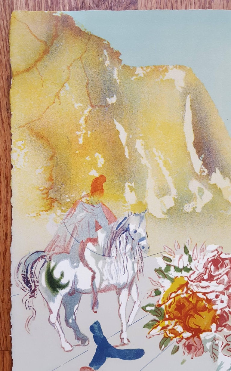 Helen of Troy (Angel with Wand) - Surrealist Print by Salvador Dalí