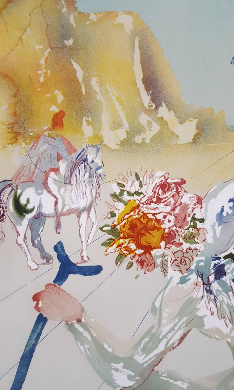 An original signed photolithograph from an original gouache on Arches paper by Spanish artist Salvador Dali (1904-1989) titled