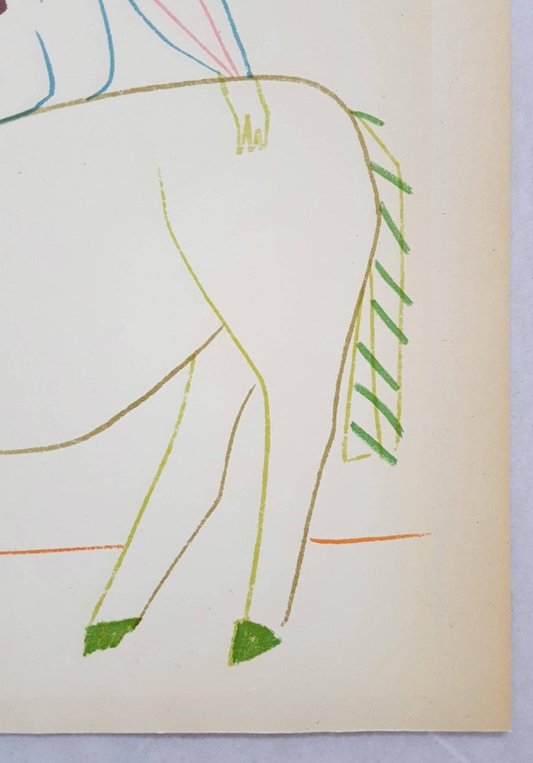 An original lithograph on wove paper after a drawing by Spanish artist Pablo Picasso (1881-1973) titled