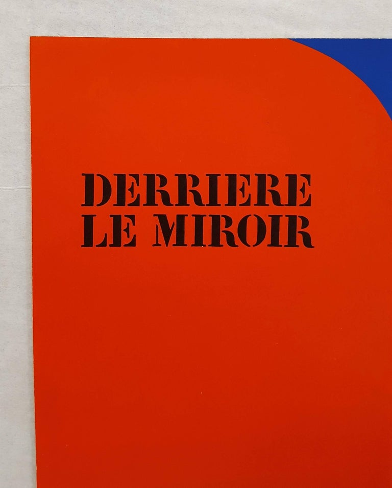 Derrière Le Miroir No. 149 (front cover) - Red Abstract Print by Ellsworth Kelly