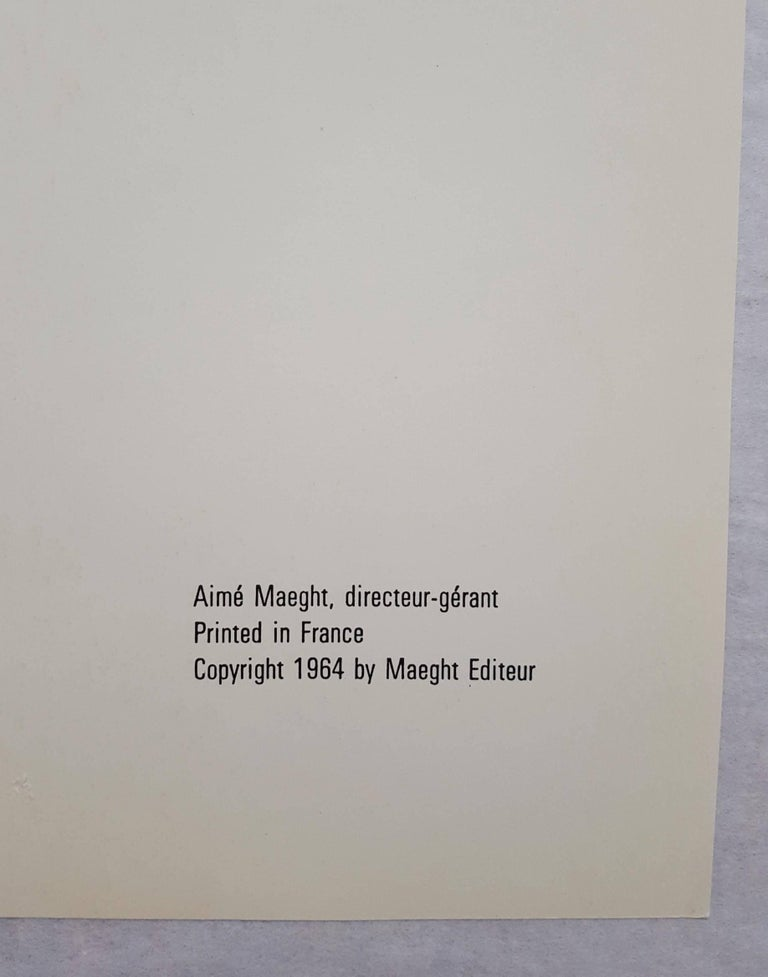 Derrière Le Miroir No. 149 (front cover) For Sale 1