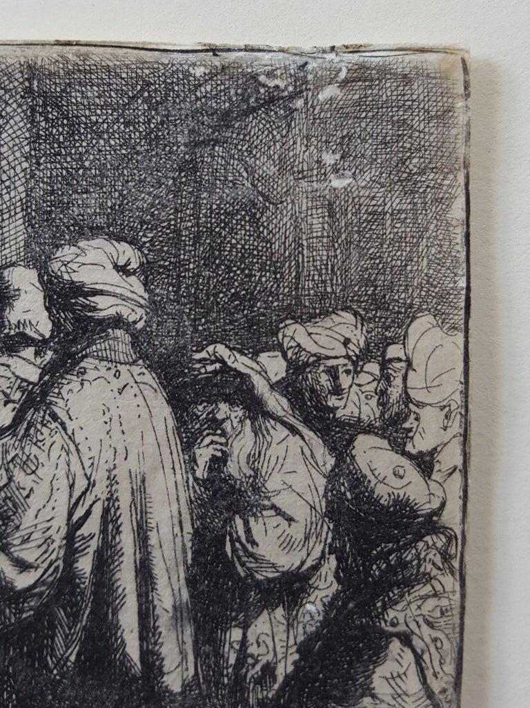 The Tribute Money - Black Figurative Print by Rembrandt van Rijn