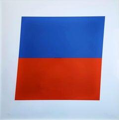 Blue/Red-Orange