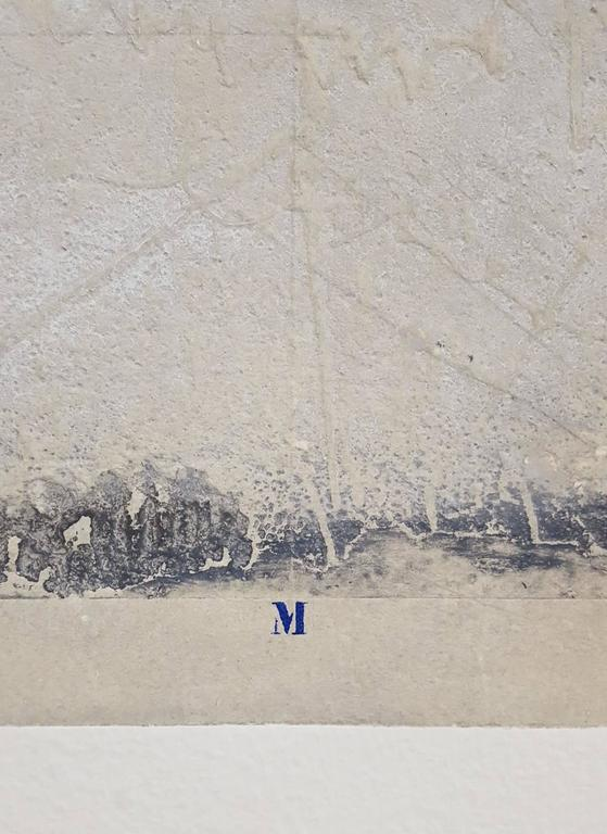 An original signed carborundum engraving on heavy handmade cotton rag paper by French artist James Coignard (1925-2008) titled