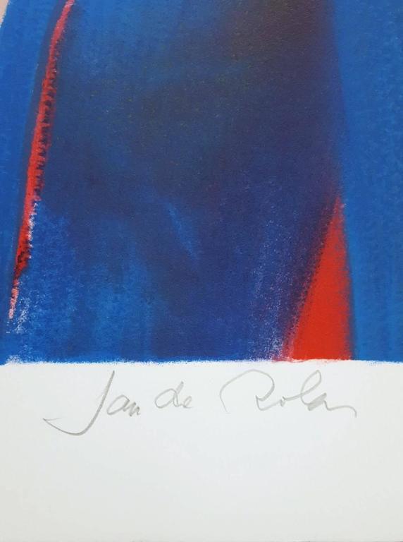 Isabella - Red Portrait Print by Jan DeRola