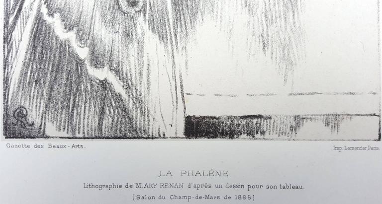 La Phalene - Gray Figurative Print by Cornelius Ary Renan