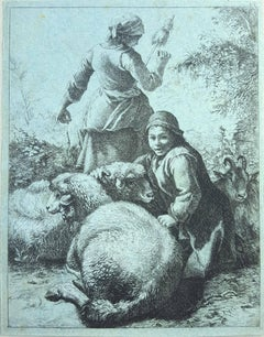 Shepherdess with Skeen