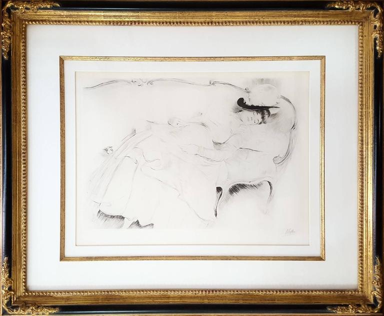 Dormeuse sur un Canape - Print by Paul César Helleu