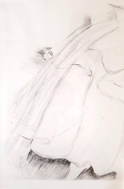 Dormeuse sur un Canape - Gray Figurative Print by Paul César Helleu