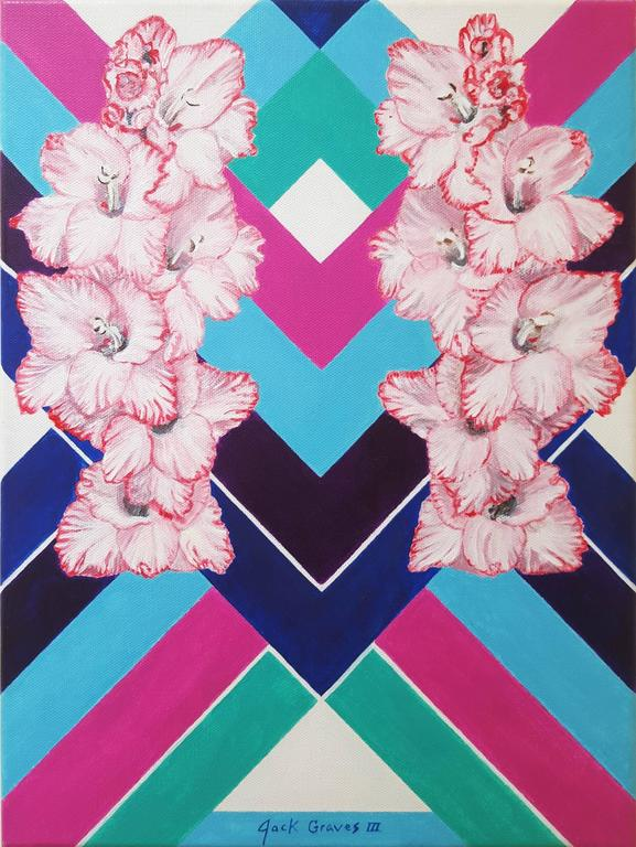 Jack Graves III Abstract Painting - Geometric Empress