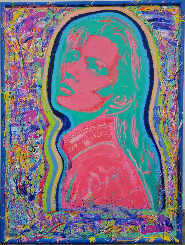 Jack Graves III Portrait Painting - Kate Moss Icon (Sunbather)