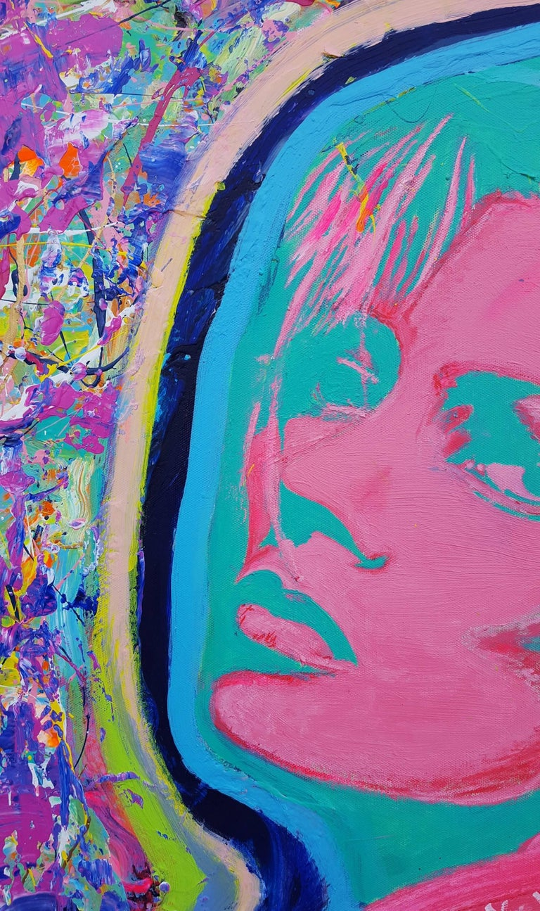 Kate Moss Icon (Sunbather) - Painting by Jack Graves III