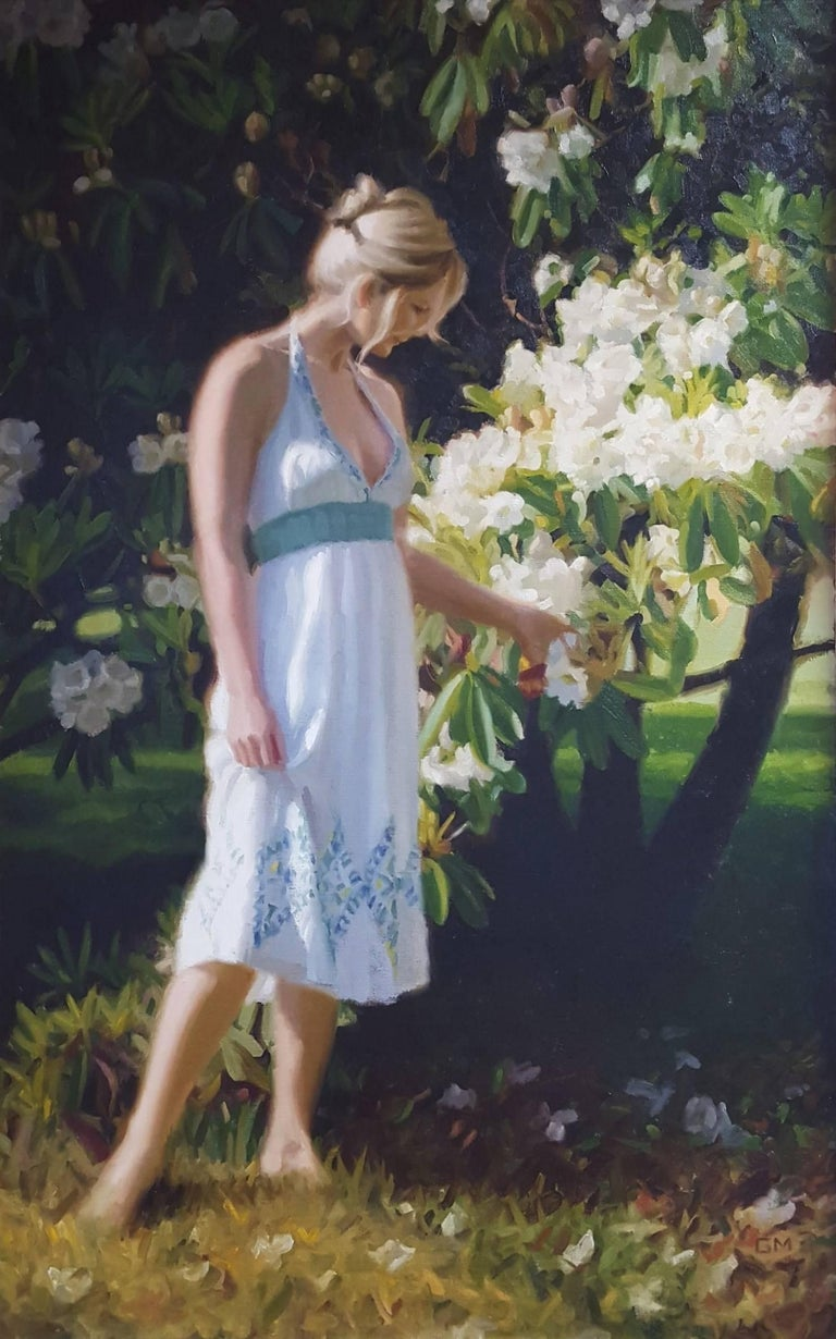 Gary Thomas Morrow Figurative Painting - Summer Blooms