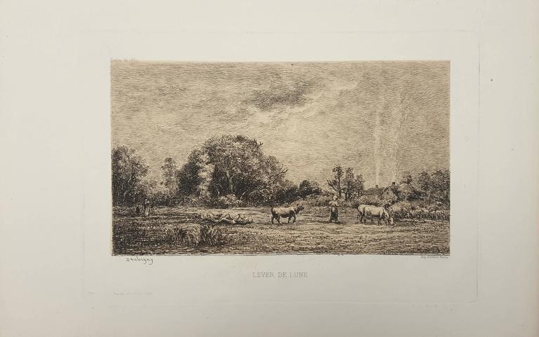 Lever de Lune - Print by Charles François Daubigny