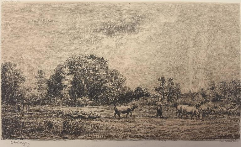 Charles François Daubigny Animal Print - Lever de Lune