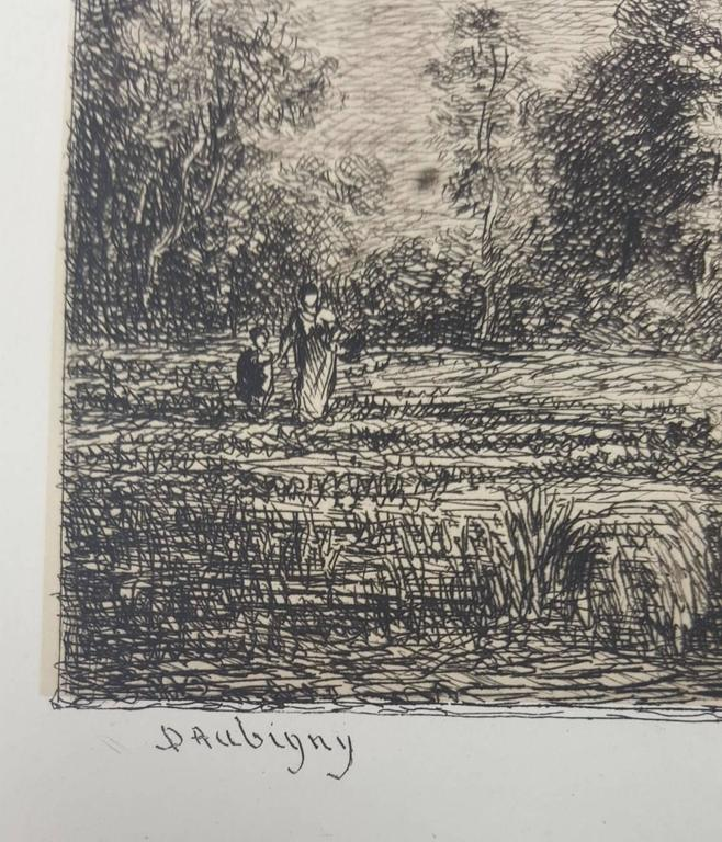 Lever de Lune - Barbizon School Print by Charles François Daubigny
