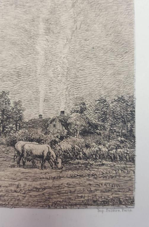 Lever de Lune - Brown Animal Print by Charles François Daubigny