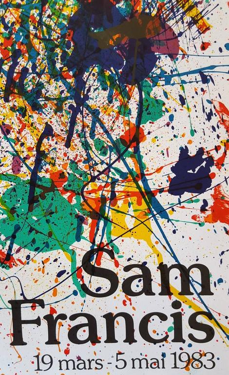Expo 1983 (SF-229p) - Abstract Expressionist Print by Sam Francis
