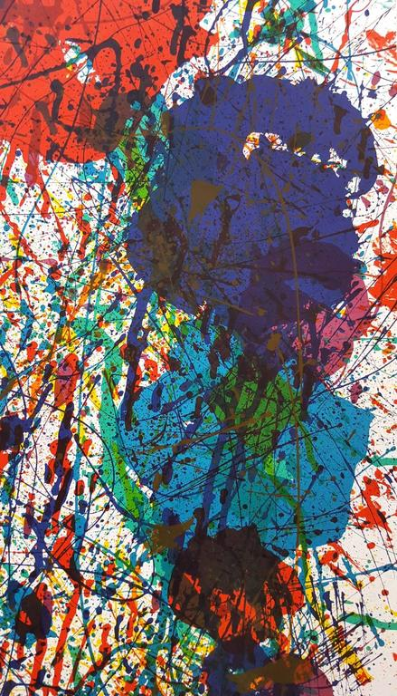 "An original eight color lithograph, exhibition poster by American artist Sam Francis (1923-1994) titled ""Expo 1983 (SF-229p)"", 1983. Catalogue raisonné: (Prints of Sam Francis Vol. I) on page 178 under (SF-229p). Published in 1983,"