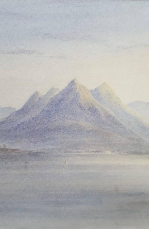 The Bay of Naples - Gray Landscape Art by Edward William Cooke
