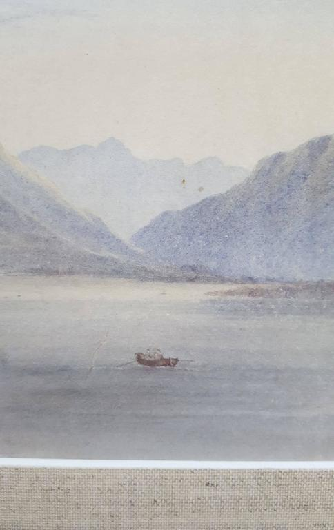 An original watercolor attributed to English artist Edward William Cooke (1811-1880) titled