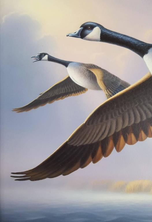 Canada Geese - Contemporary Painting by Ron Louque