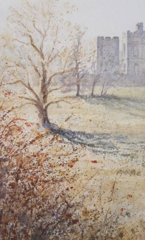 Raby Castle, Staindrop - Beige Landscape Art by Gillie Cawthorne