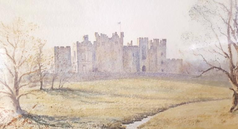 An original signed pastel drawing by English artist Gillie Cawthorne (1963-) titled