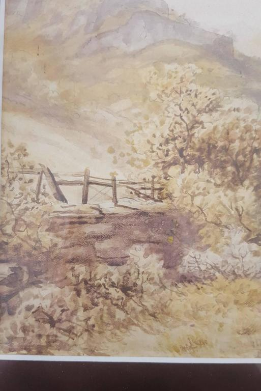 Autumn, Langdale Pikes from Chapel Stile - Victorian Art by Rose Maynard Barton