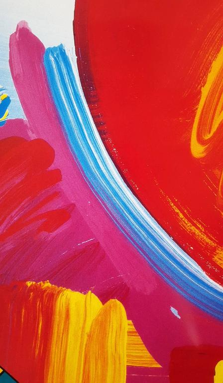 An original drawing on signed exhibition poster by American artist Peter Max (1937-) titled