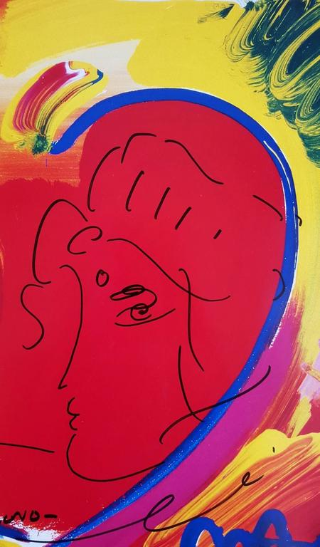 Two Hearts as One - Art by Peter Max