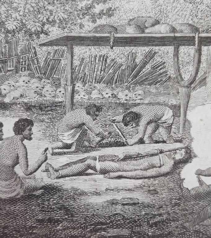 Representation of Human sacrifice with Captain Cook For Sale 2