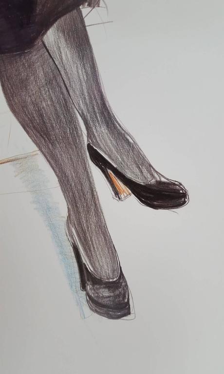 Celia, Paris, Black Stockings 5