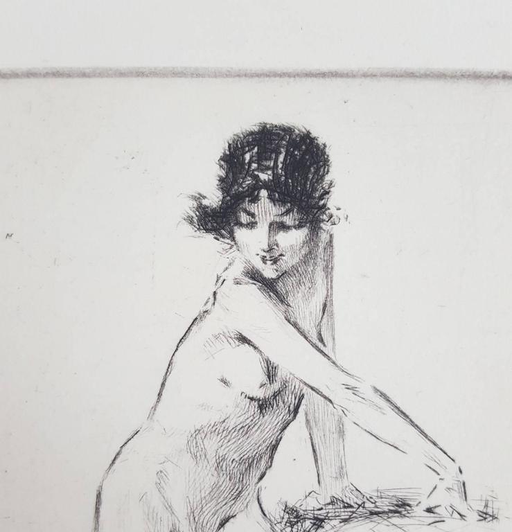 Summer Day - Beige Nude Print by Troy Kinney