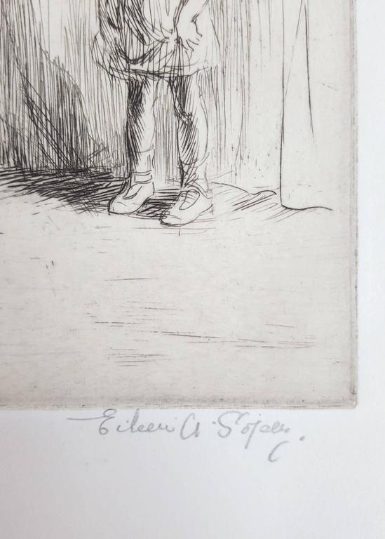 An original signed drypoint etching on wove paper by English artist Eileen Alice Soper (1905-1990) titled