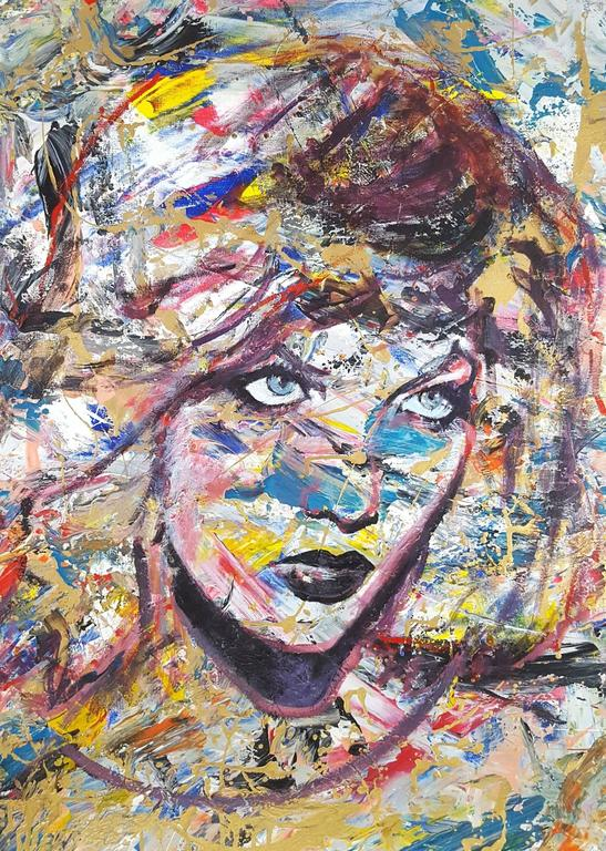 Karlie Kloss Icon - Painting by Jack Graves III