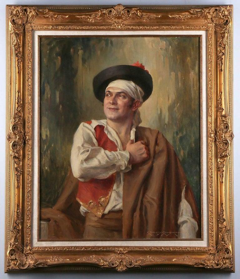 Charles Bosseron Chambers Portrait Painting - Portrait of Escamillo from Bizet's Opera Carmen
