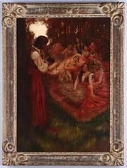 Minstrel Entertains a Harem
