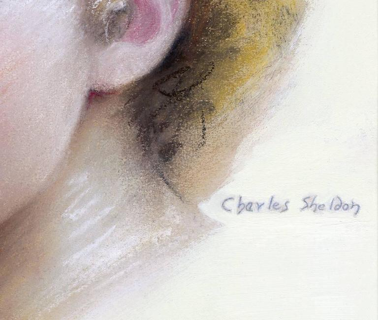 Portrait of Norma Shearer - Painting by Charles Sheldon