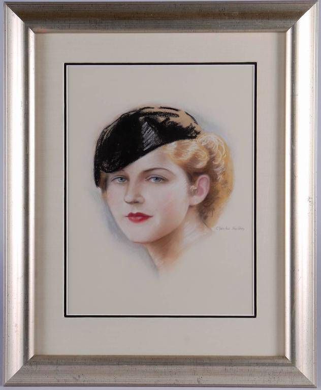 Charles Sheldon Portrait Painting - Portrait of Norma Shearer