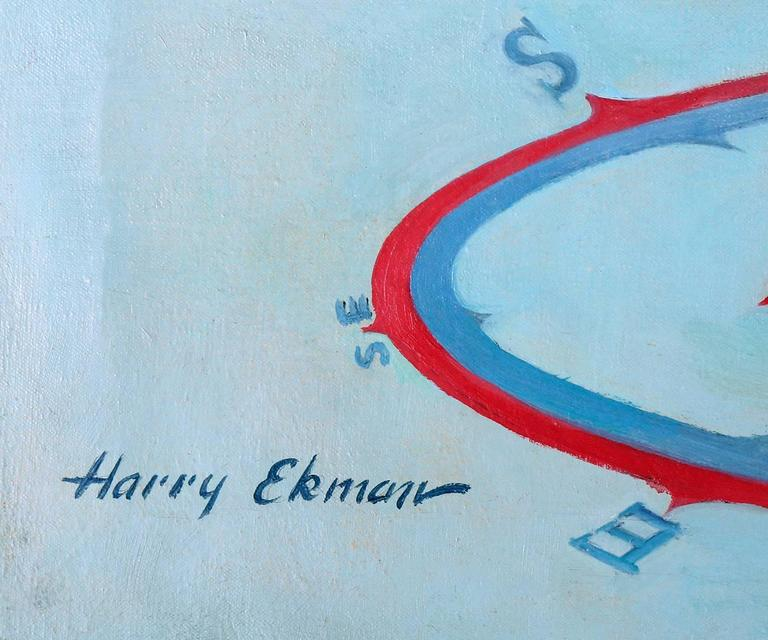 I Don't Go Too Far In Any Direction! - Painting by Harry Ekman