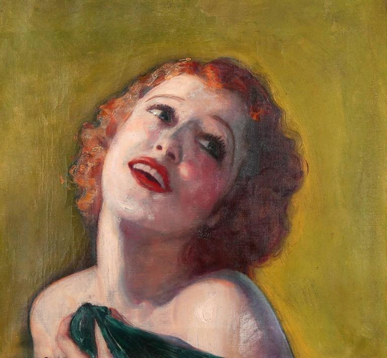 Jeanette MacDonald - Painting by McClelland Barclay